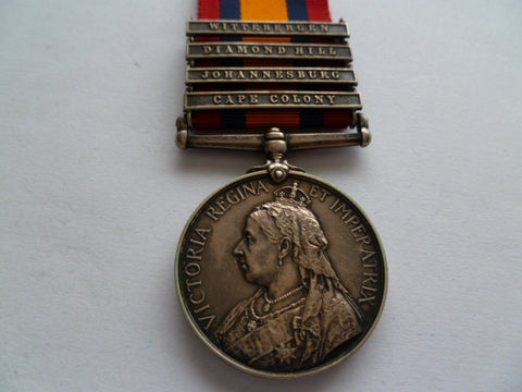 BRITISH QSA MEDAL 4 bars 12th lancers