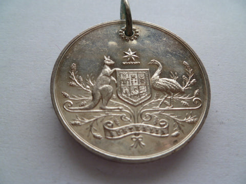 AUST/PNG loyal service medal #396 nef cond