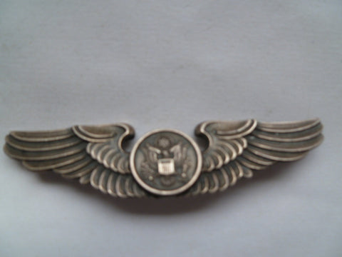 usa ww2 AAC full size wing aircrew marked balfour stg sil