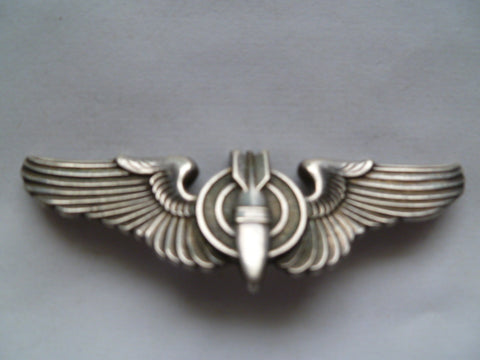 usa ww2 AAC full size wing BOMBADIER stg silver