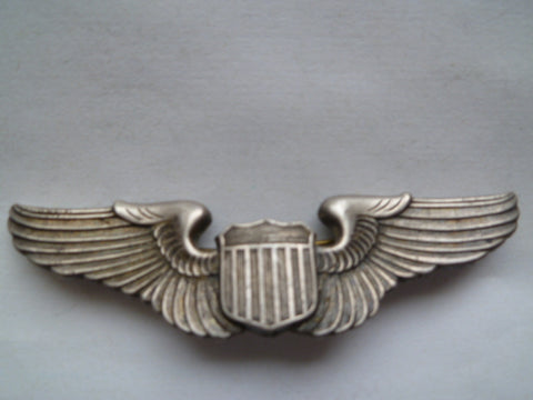 usa ww2 AAC full size wing PILOT marked sterling