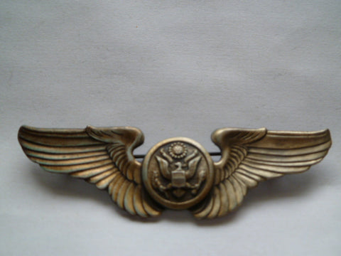 usa ww2 AAC full size wing aircrew marked sterling pinback