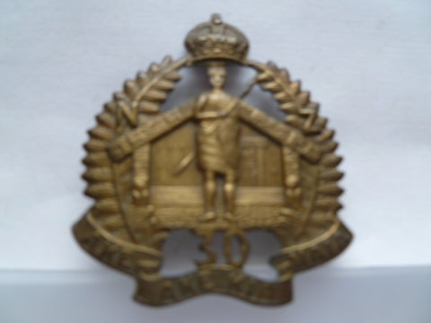 NZ 30 th reinforcements cap badge ex cond