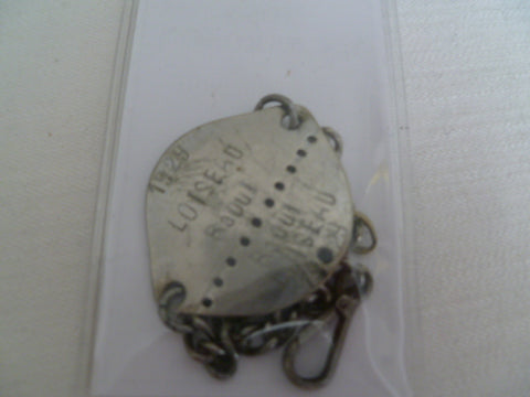 france ww1/2 1929 dog tag bracelet type