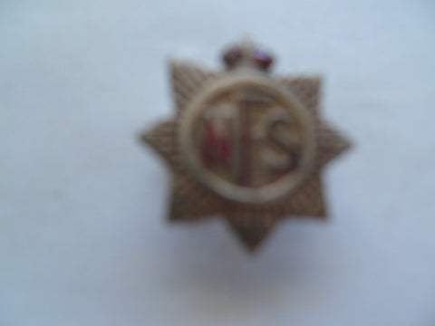 brit NFS lapel badge nice unmarked badge
