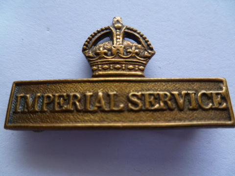 brit territorial service badge virtually all brass now