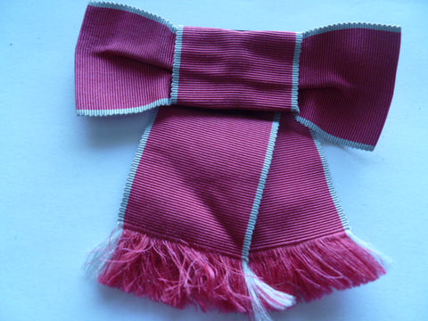 OBE ladies ribbon with catch on back etc