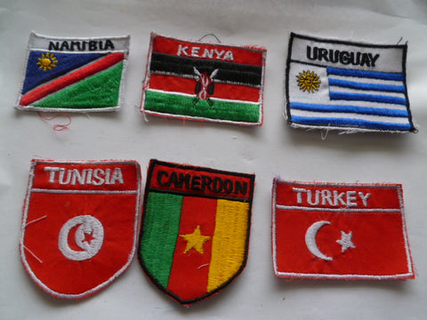 un flags somalia etc 6 different in country made