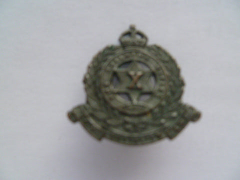 AUSTRALIA 1930/42  10th adelaide rifles regt collar 1 brass blackened