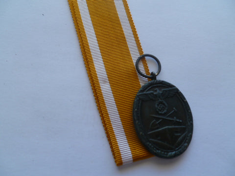 german ww2 west wall medal f/s