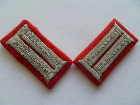 german ww2 collar tabs pair parade  flak