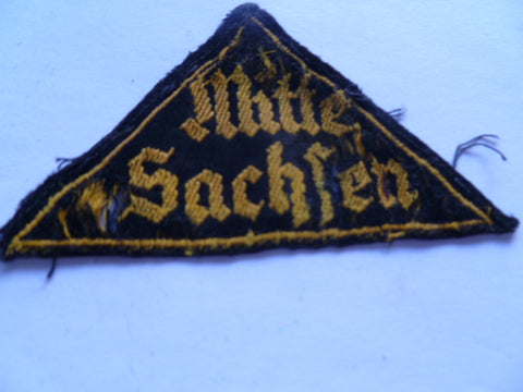 german ww2 bevo HJ area patch sachsen