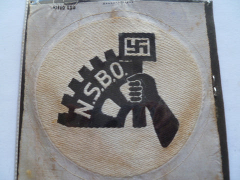 german ww2 NSBO p/t patch uncut few stains etc