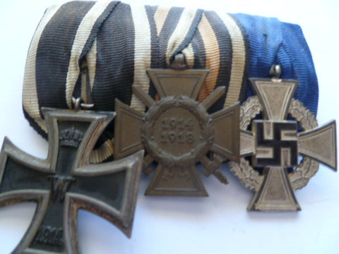 germany ww1 and 2 medal group of 3 ek2 ,honour cross and nazi f/ful cross