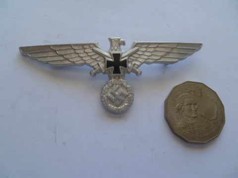 german ww2 veterans eagle with pin and ges gesch on back