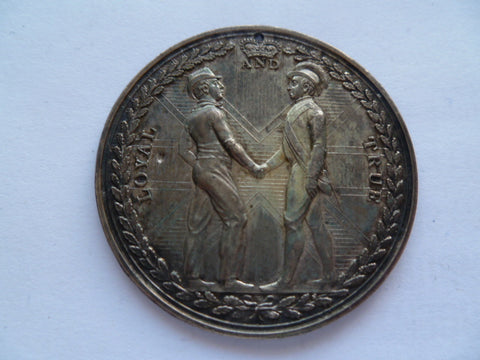 earl of st vincents 1800 c medal uniface copy