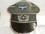 GERMAN WWII ARMY OFFICERS PEAKED CAP 'Crusher Style'