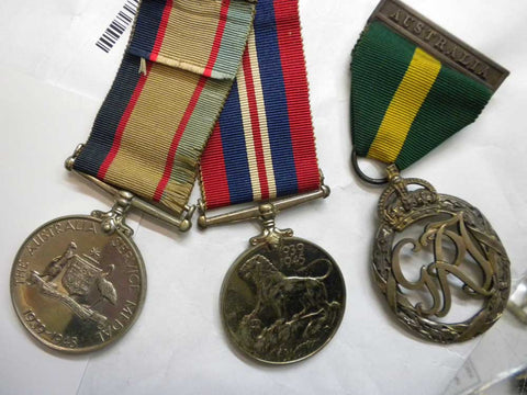 WWII Effeciency Medal Group died in malaya accident half price