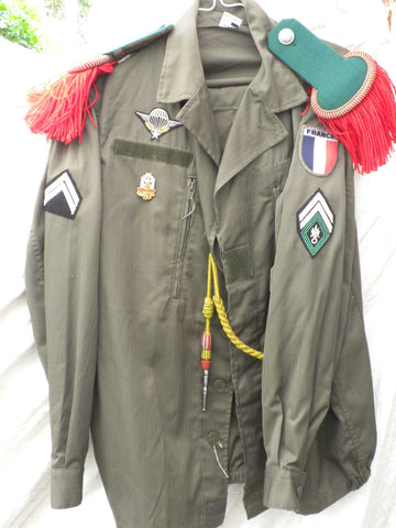 FRENCH FOREIGN LEGION complete uniform green F2 13th DBE