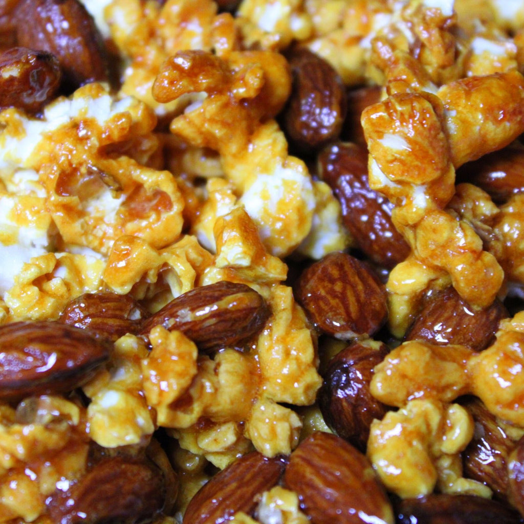 Calabrian Hot Honey Sticky Popcorn Bunches