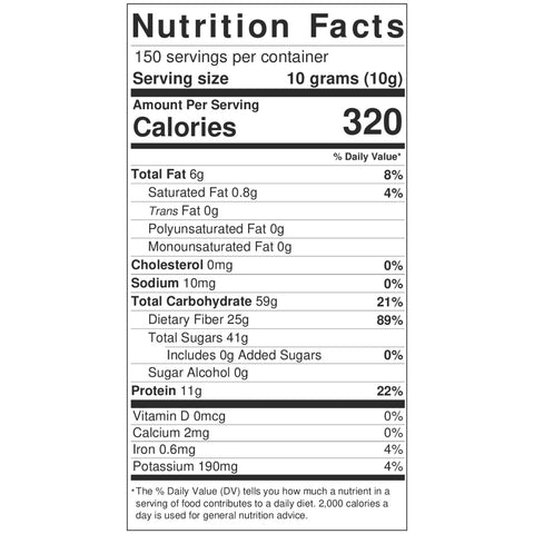 Hot Calabrian Chili Powder In Plastic Tubs NutritionLabel
