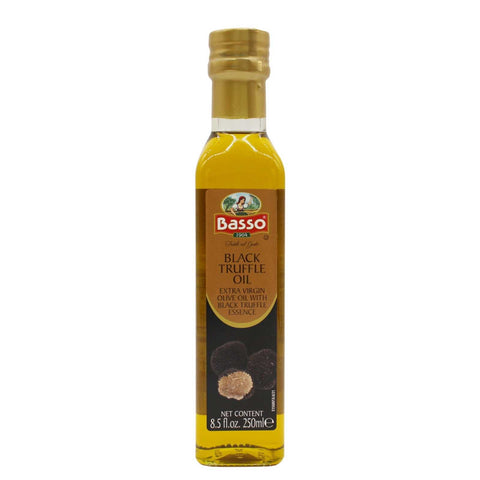 Basso Black Truffle Extra Virgin Olive Oil |  8.5oz (250 ml)