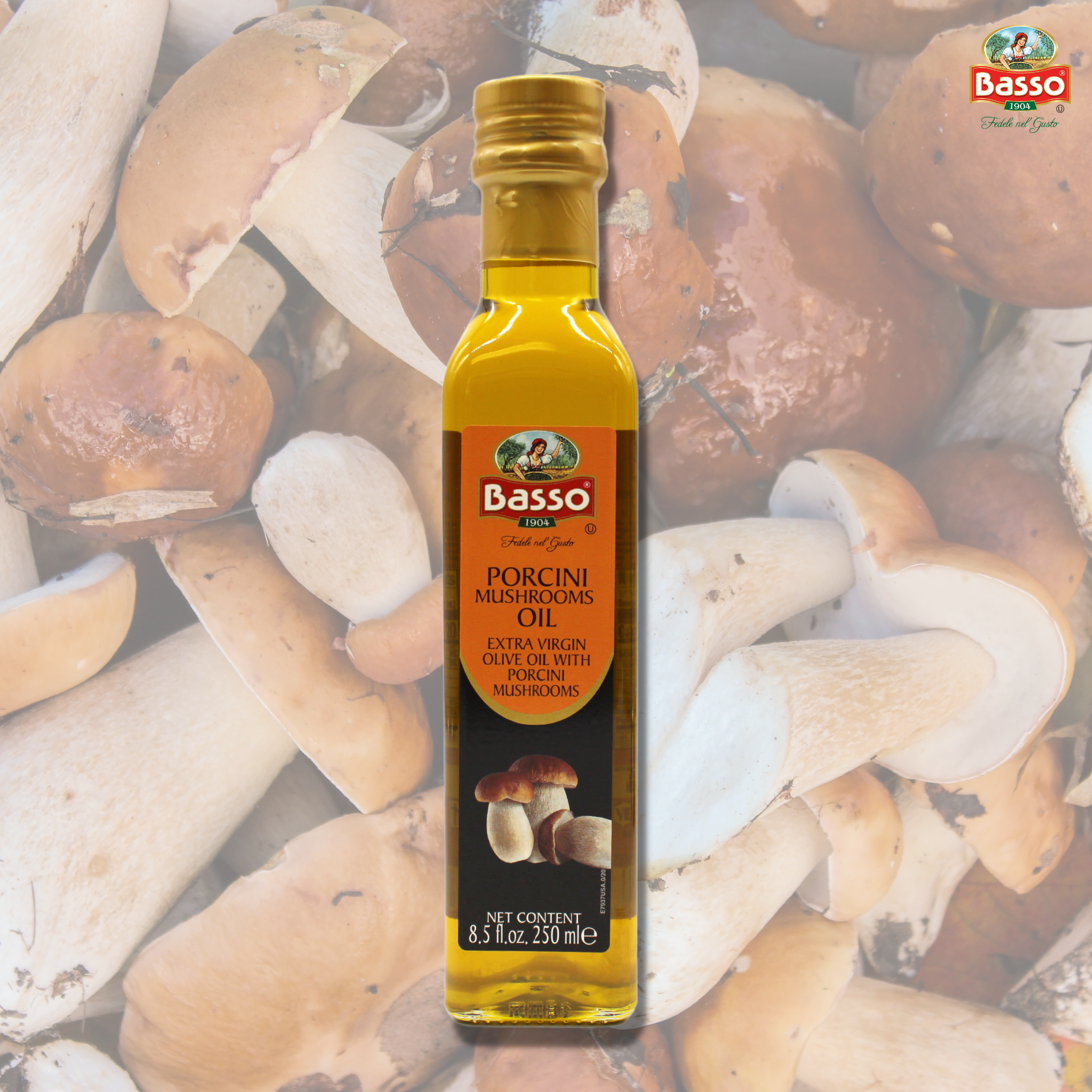 Basso Extra Virgin Olive Oil Porcini 8.5 fl oz