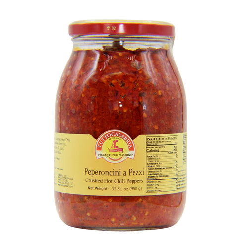 Tutto Calabria Crushed Hot Chili Peppers 33.5 oz.