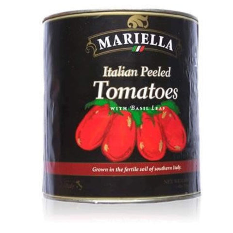 Mariella Whole Plum Tomatoes w/Basil #10 Can (3.4 kg) - Wholesale Italian Food