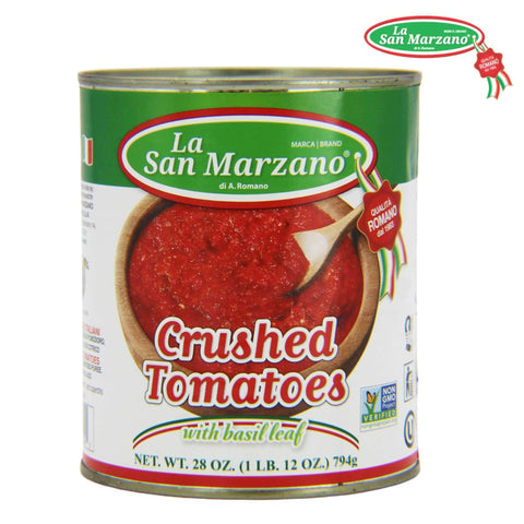 La San Marzano Italian Crushed Tomatoes 28 oz. - Wholesale Italian Food