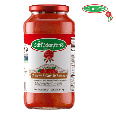 La San Marzano Roasted Garlic Pasta Sauce 24 oz. - Wholesale Italian Food