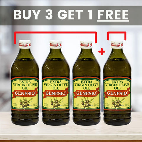 Genesio: Extra Virgin Olive Oil 4-PACK - Buy 3, Get 1 Free (4 x 1 Ltr.) - Wholesale Italian Food