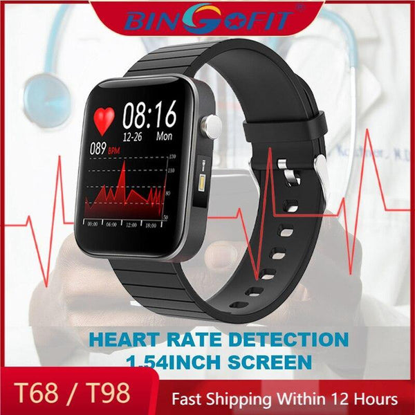 Original BingoFit T68 Smart Watches Body Temperature Measurement Heart Rate Monitor Fitness Trackers T98 SmartWatch VS P8 Watch - Yoofitt