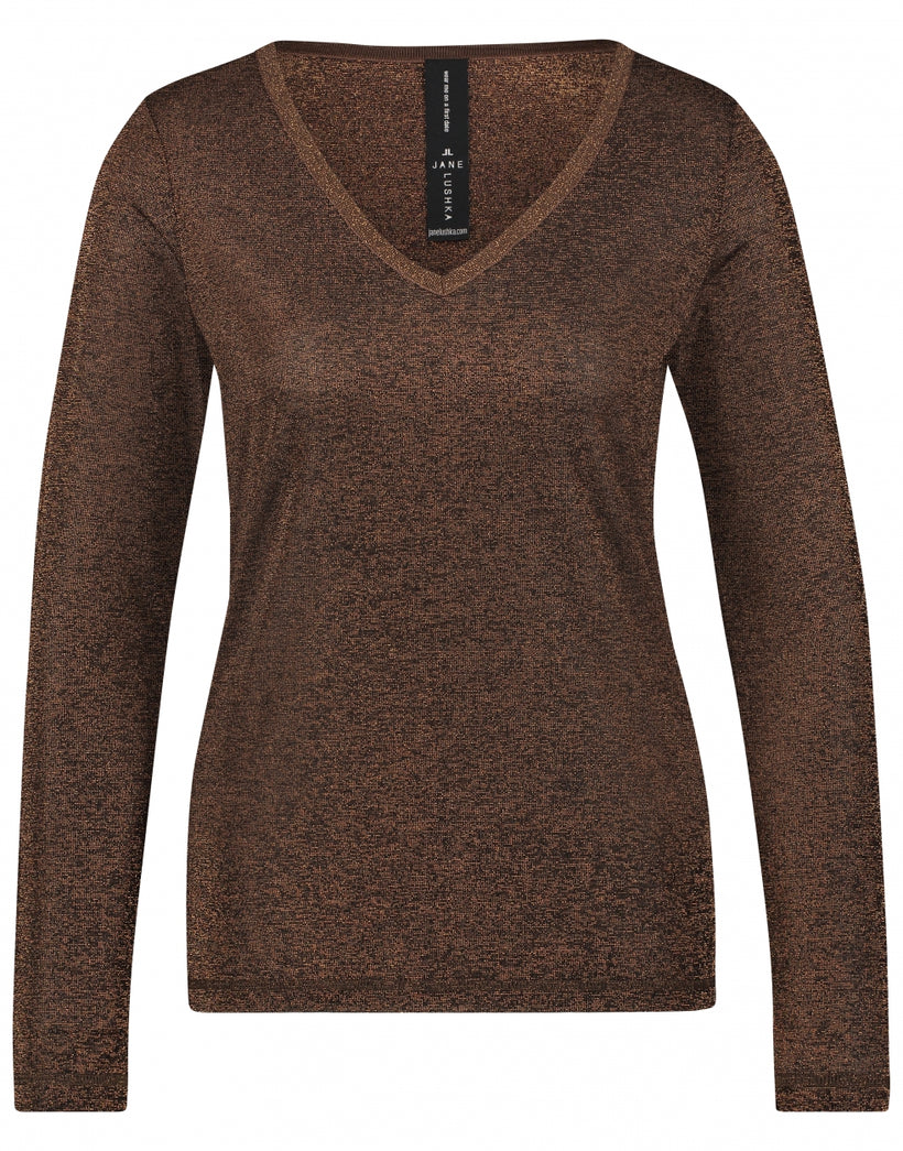 Grace V-Neck | Brown
