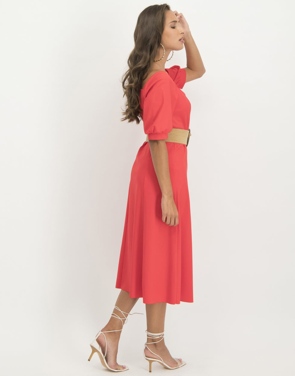 Sara Midi Dress | Red