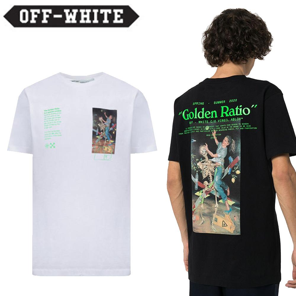 Off-White  オフホワイト PASCAL PAINTING COTTON T-SHIRT 半袖Tシャツ black white 2色