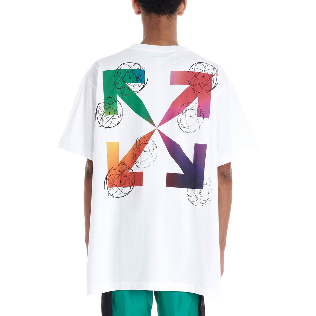 Off-White 2020SS FUTURA ATOMS S/S OVER Tシャツ コットン 男女兼用 white
