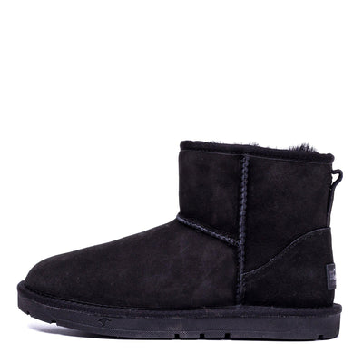 Mini Classic Sheepskin Boot Black - Roozee Australia