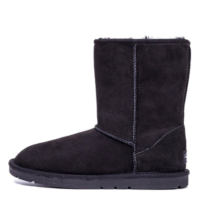 Short Classic Sheepskin Boot Black - Roozee Australia