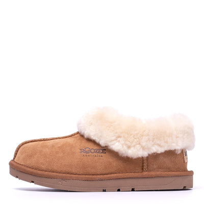 Ankle Sheepskin Slipper Chestnut - Roozee Australia