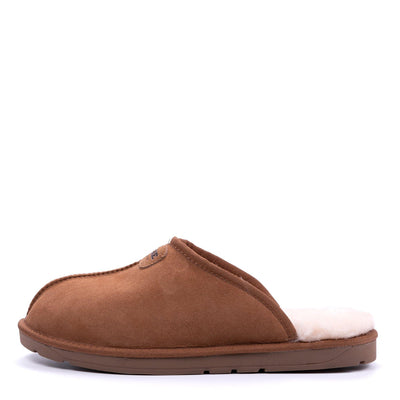 Men Sheepskin Scuff Chestnut - Roozee Australia