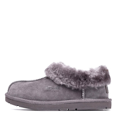 Ankle Sheepskin Slipper Grey - Roozee Australia