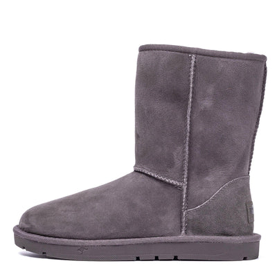 Short Classic Sheepskin Boot Grey - Roozee Australia