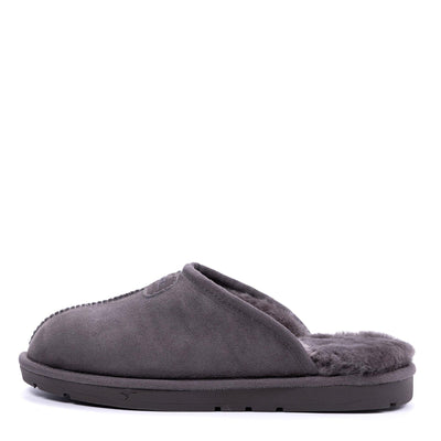 Men Sheepskin Scuff Grey - Roozee Australia