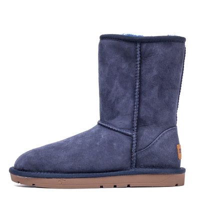 Short Classic Sheepskin Boot Navy - Roozee Australia
