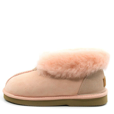 Roozee Premium Ankle Slipper Australian Made Light Pink - Roozee Australia