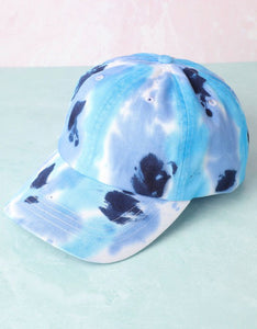 Multicolored Tie Dyed Cotton Baseball Cap Hat