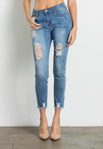Urban Chic Light Denim Distressed Jeans
