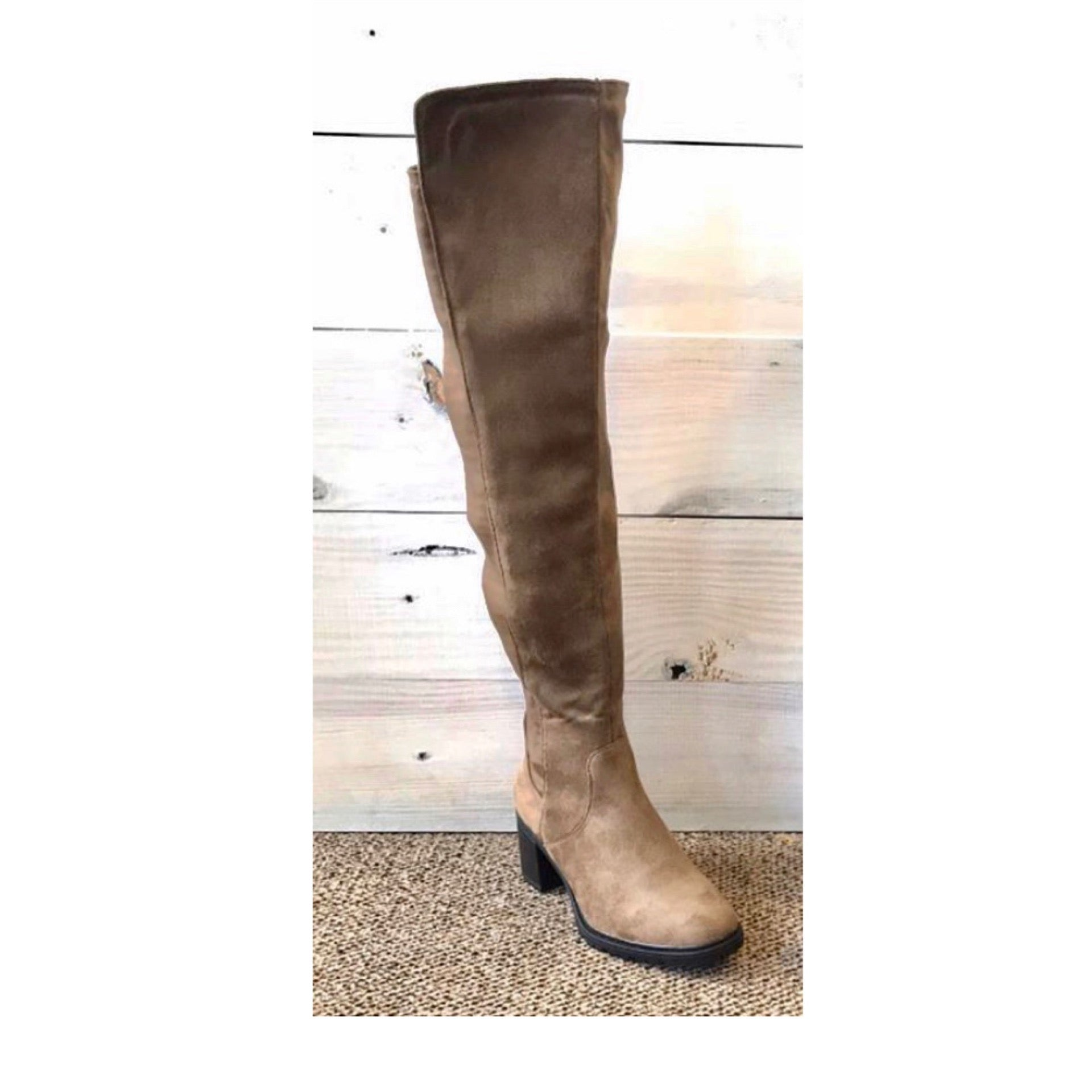 Suede Tall Over the Knee Boots