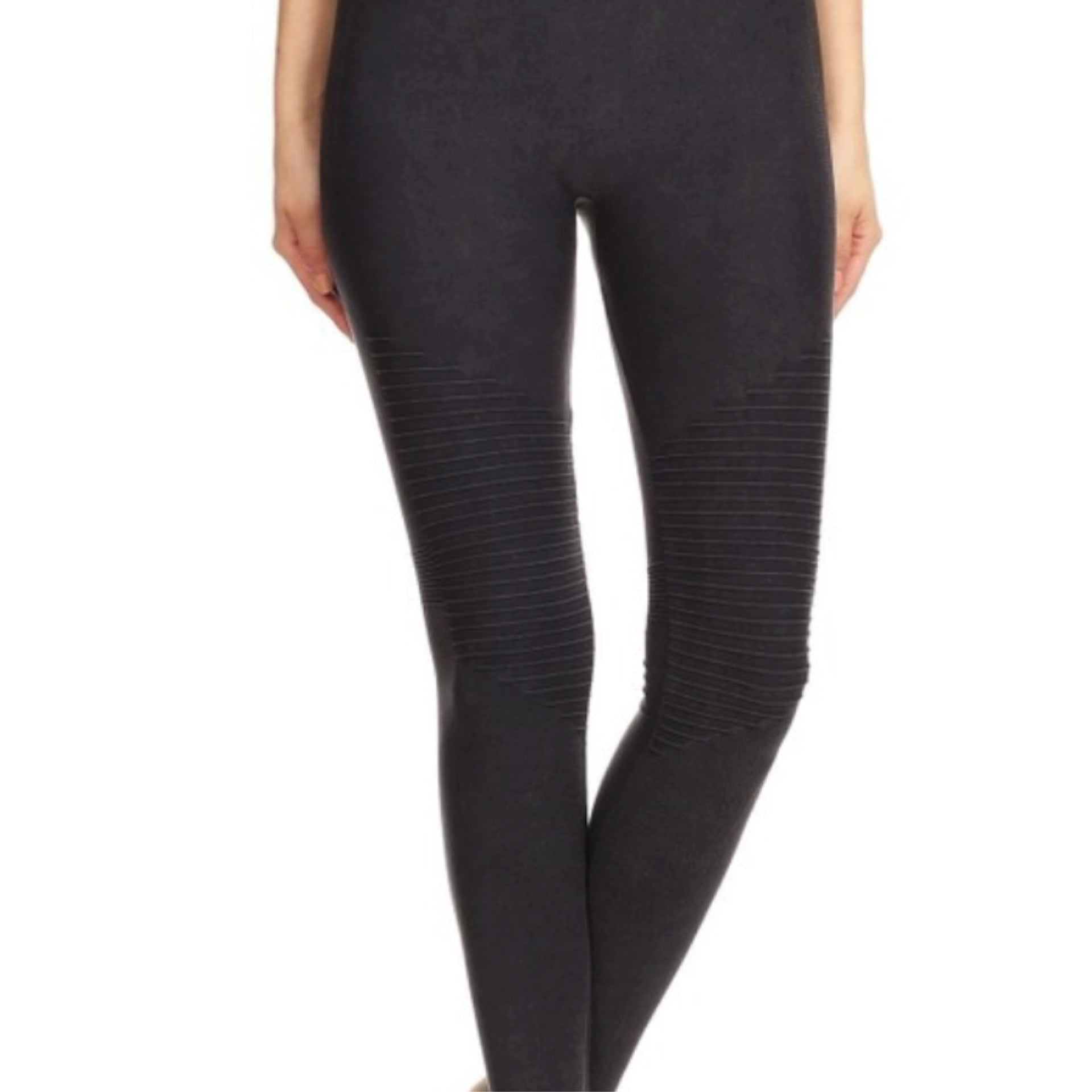 Charcoal Motto High Waisted Leggings